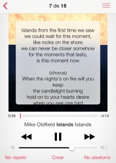 Captura de iPhone con música